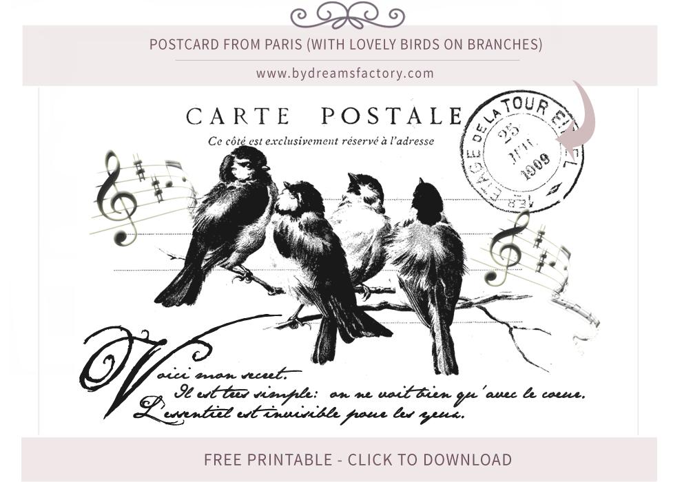 French Typography Vintage French Ephemera Free