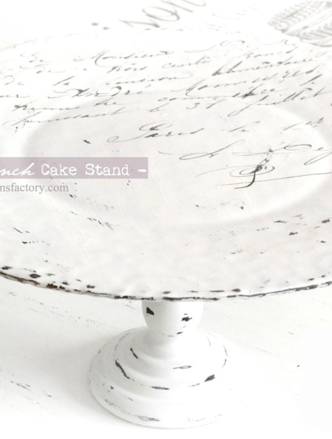 DIY: Shabby French cake stand