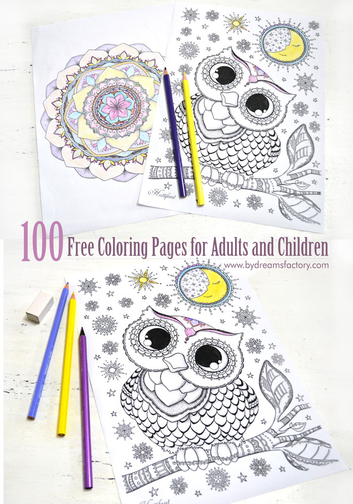 Enjoy A Great Selection Of Amazing 100 Free Coloring Pages For Adults And Children That You