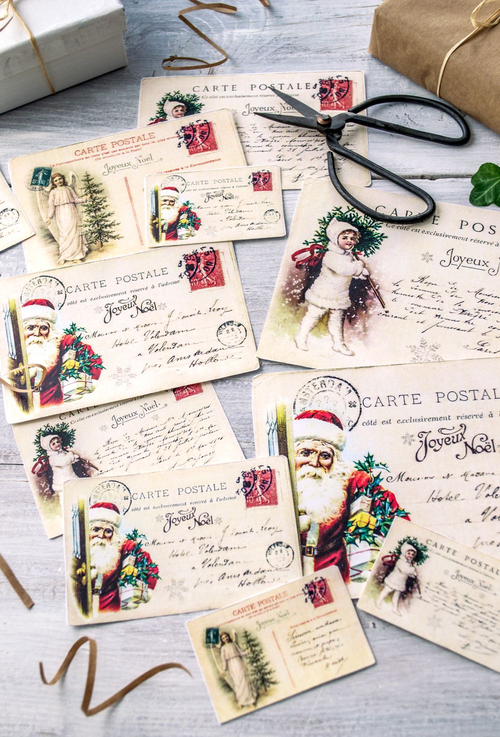 free vintage french christmas postcards christmas freeprintable french vintage postcards