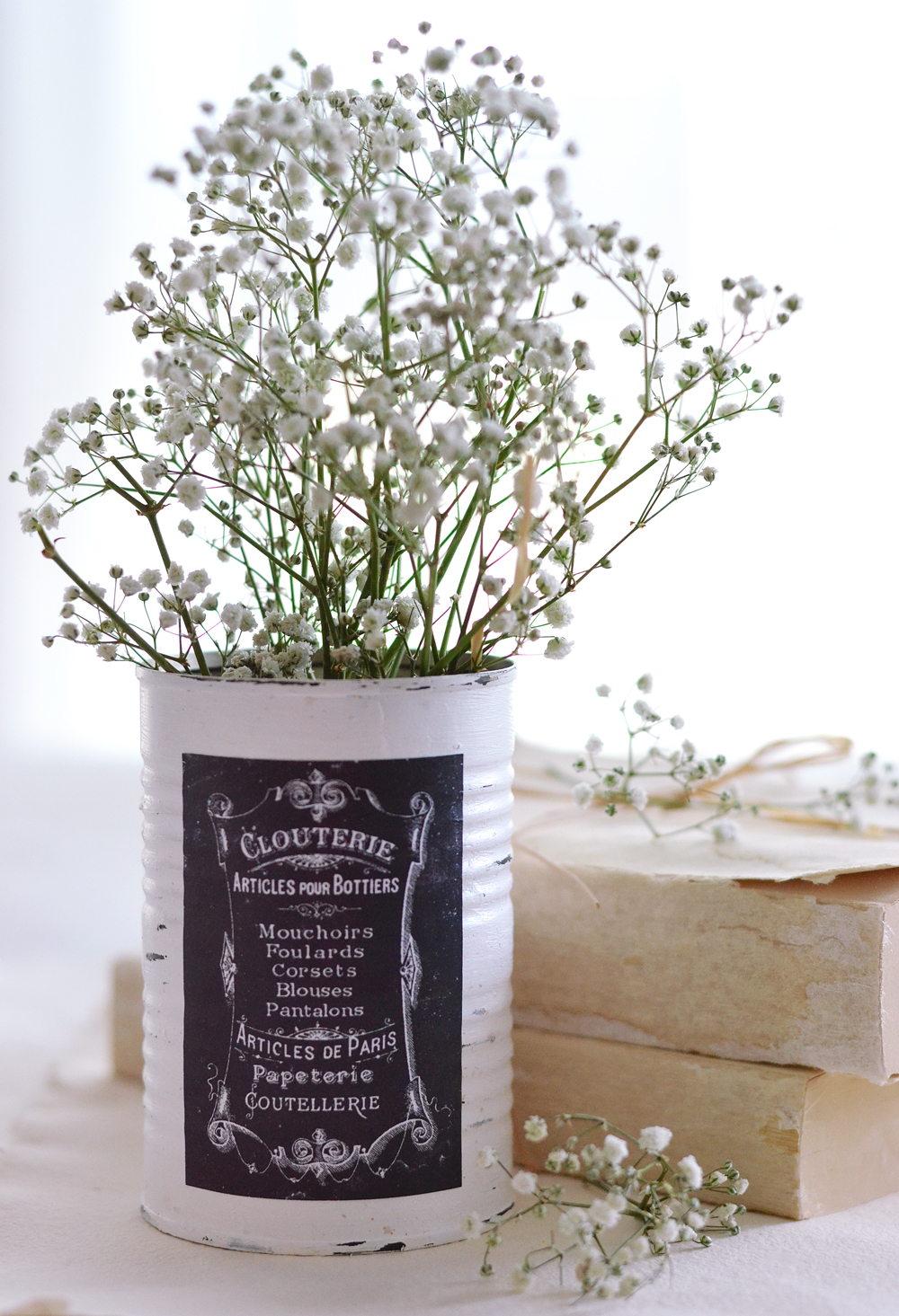 DIY French Faux Chalkboard Labels or Tags