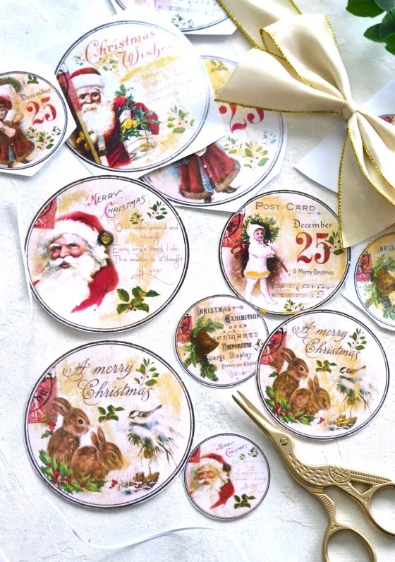 DIY Vintage Gold Christmas gift tags + free printable