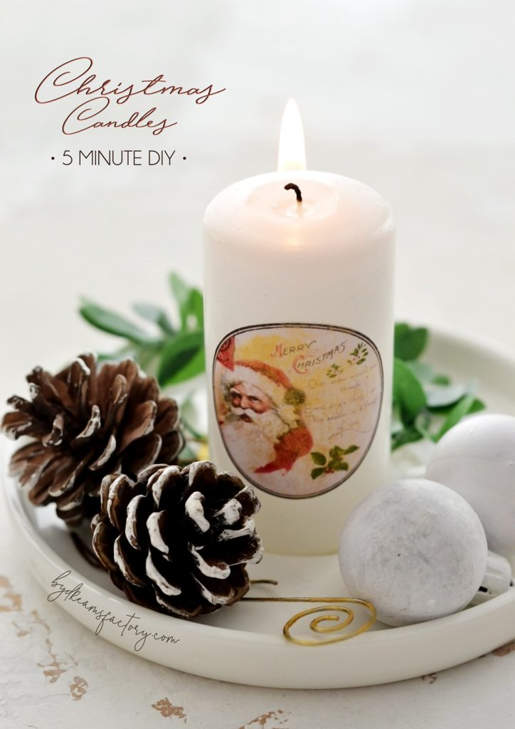 DIY 5 Minute Christmas Candles