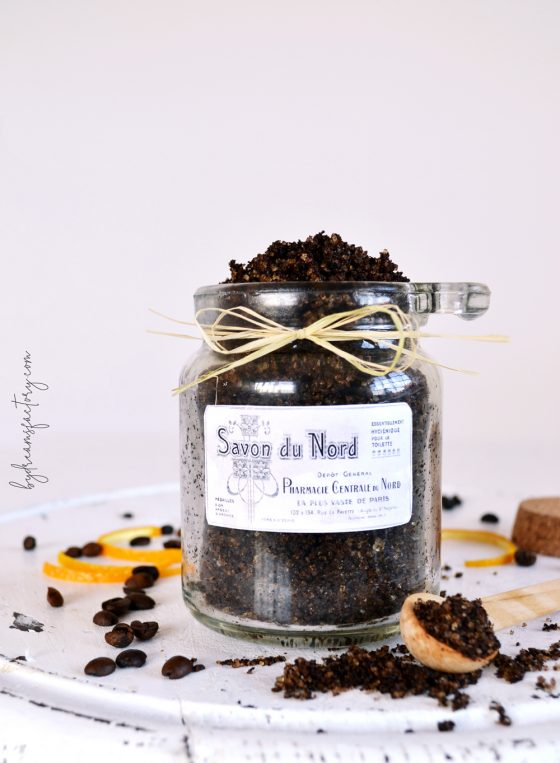 DIY Coffee Orange Sugar Scrub