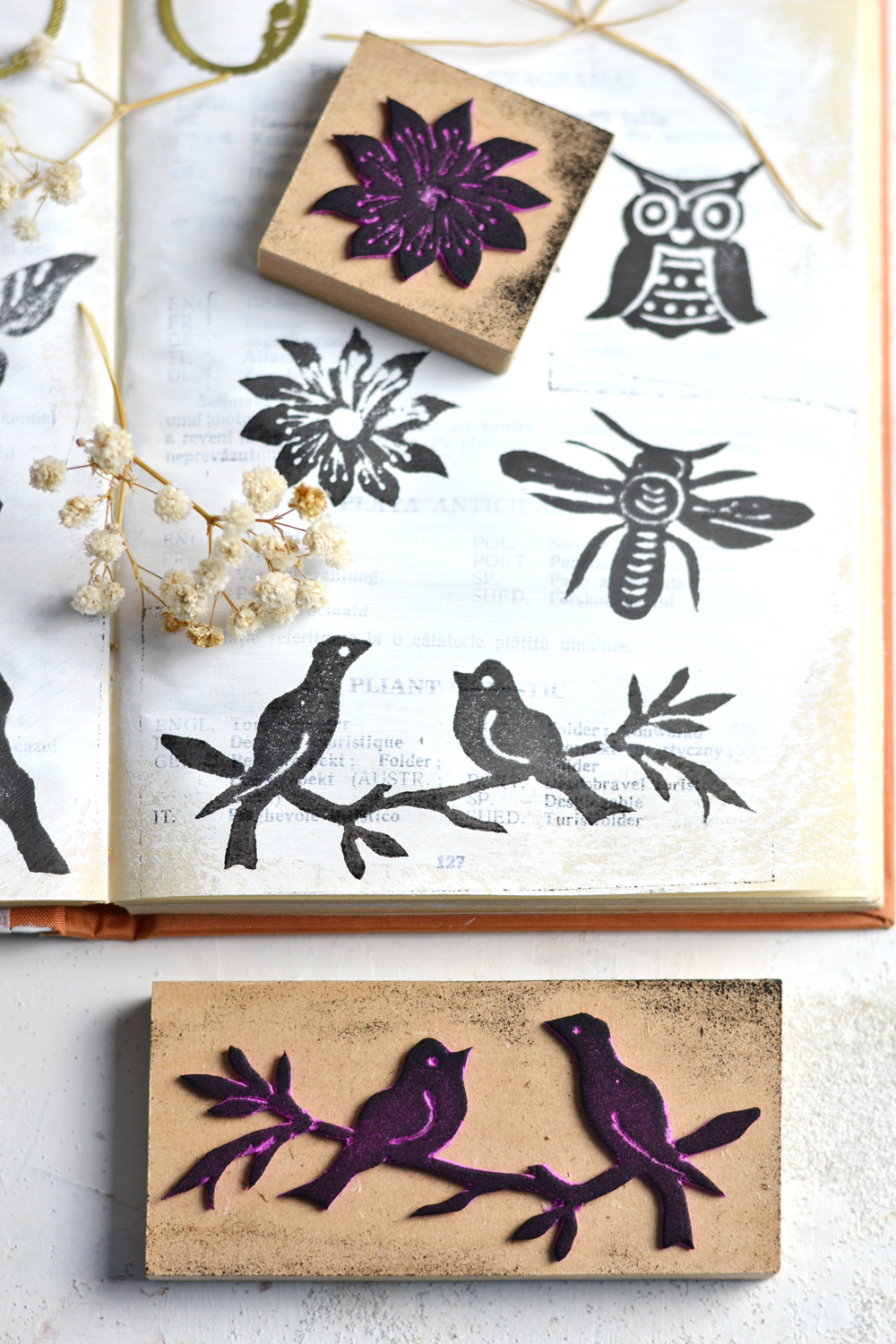 DIY Vintage Foam Stamps - learn how to easily make your own stamps using your favorite images, that can be used on so many of your creative projects!