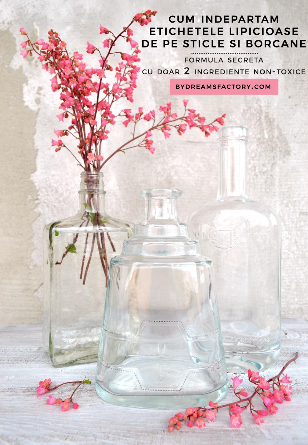 Cum indepartam etichetele lipicioase de pe sticle si borcane, folosind doar 2 ingrediente non-toxice pe care le aveti deja in bucatarie!