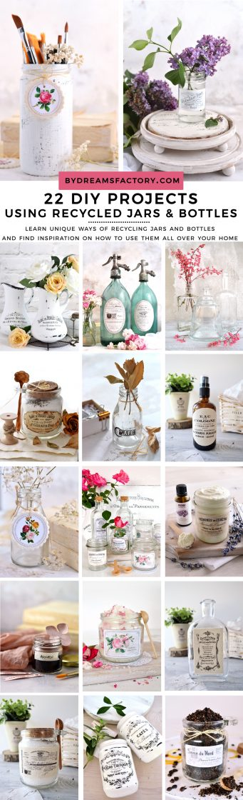 22 DIY projects using recycled jars and bottles!