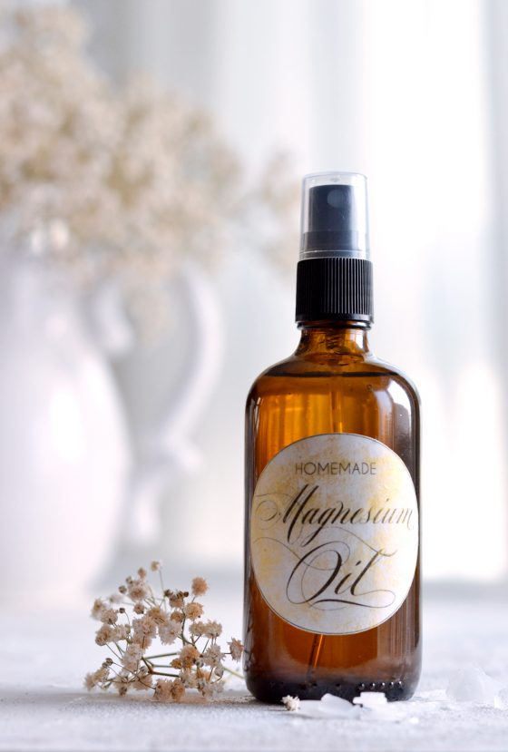 How to make magnesium oil + free printable labels