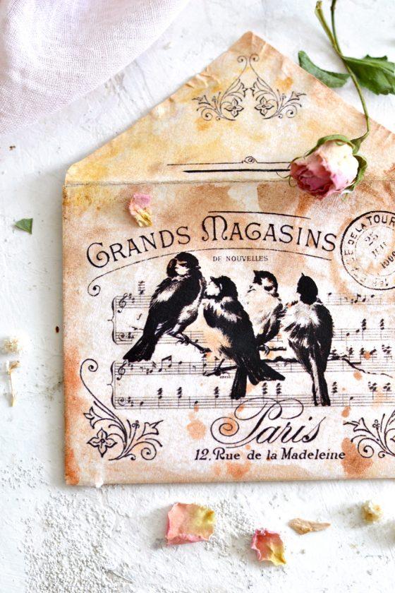How to make DIY Vintage French Envelopes