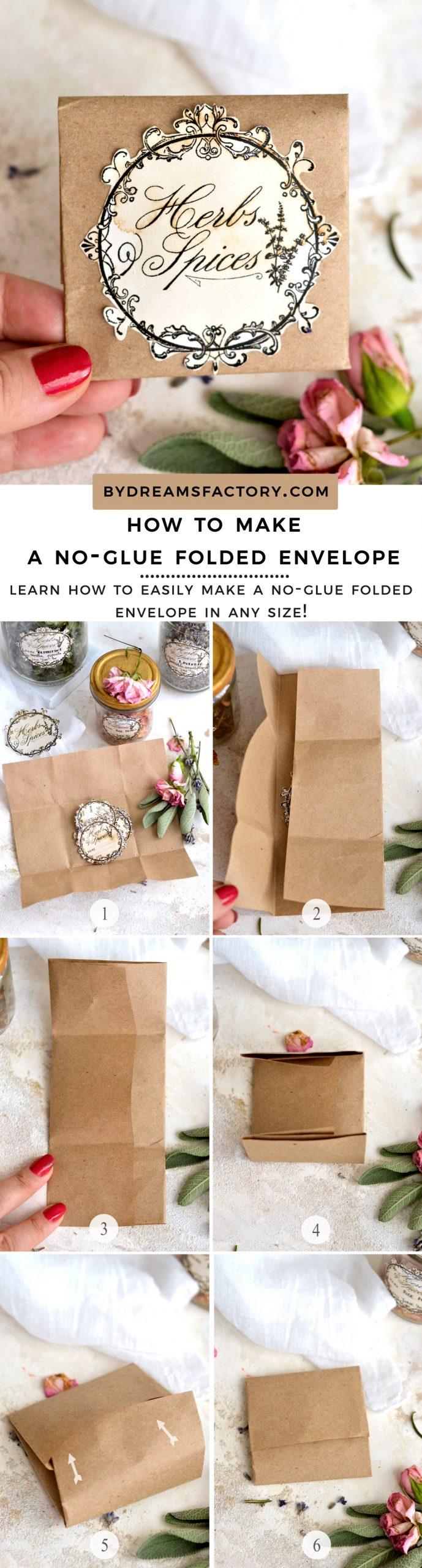 make a no-glue folded envelope