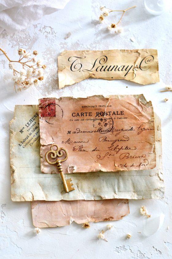DIY Antique French Ephemera Paper