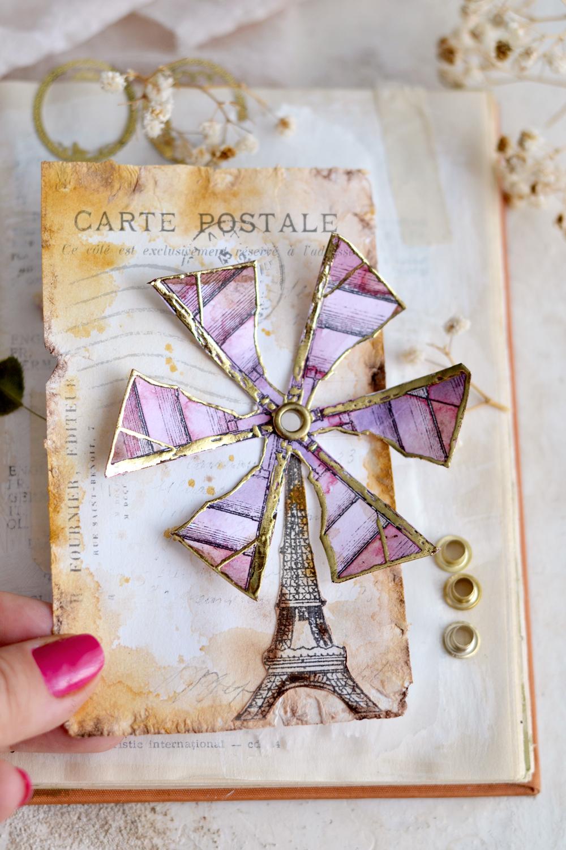 DIY Spinning Eiffel Tower Windmill Tags